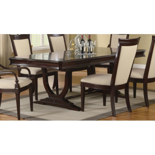piece dining room furniture set in merlot cappuccino