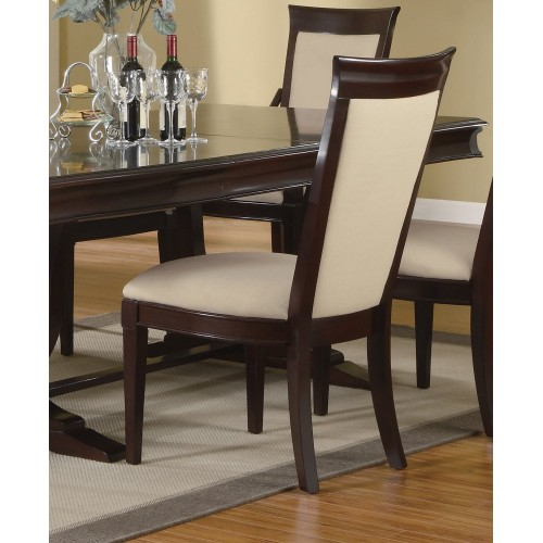 9 Pcs Dining Room Set: 9-Piece Dining Room Furniture Set In Merlot Cappuccino