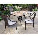 Valencia Outdoor Table and 4 Laguna Dining Arm Chairs